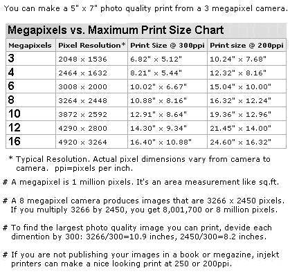 megapixel digital camera